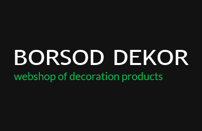 Borsod Dekor – webshop of decoration products
